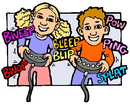 435x352 Friends Playing Video Games Clipart Letters