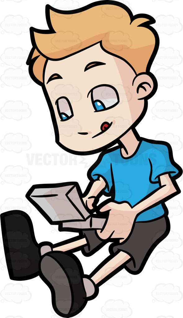 589x1024 Person Playing Video Games Clipart