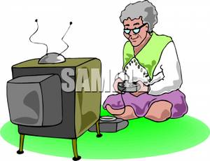 300x230 Picture An Old Lady Playing Video Games