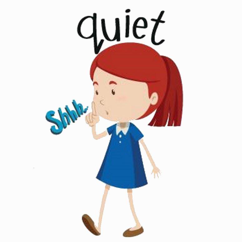 775x775 Please Clipart Quiet Student