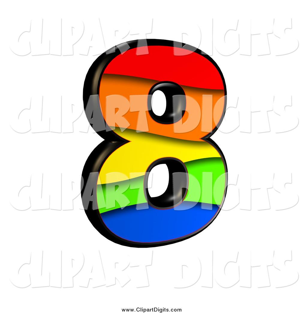 1024x1044 Clip Art Of A 3d Rainbow Number 8 By Chrisroll