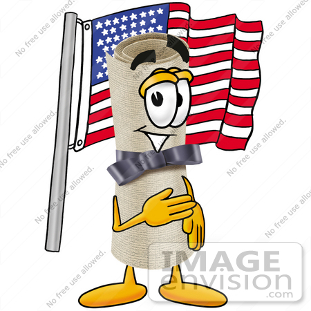 450x450 Clip Art Graphic Of A Rolled Diploma Certificate Cartoon Character