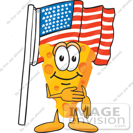 450x450 Clip Art Graphic Of A Swiss Cheese Wedge Mascot Character Pledging