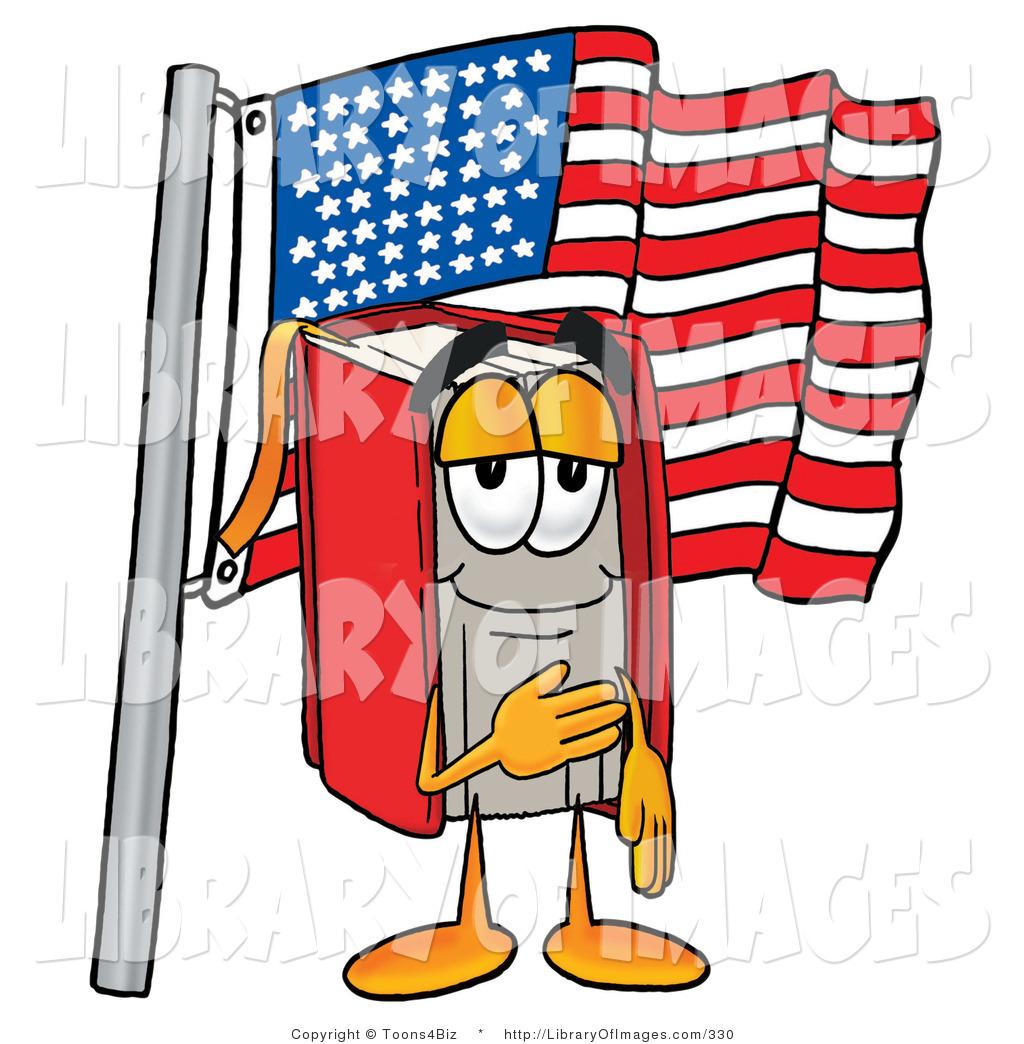 1024x1044 Clip Art Of A Proud Patriotic Red Book Mascot Cartoon Character