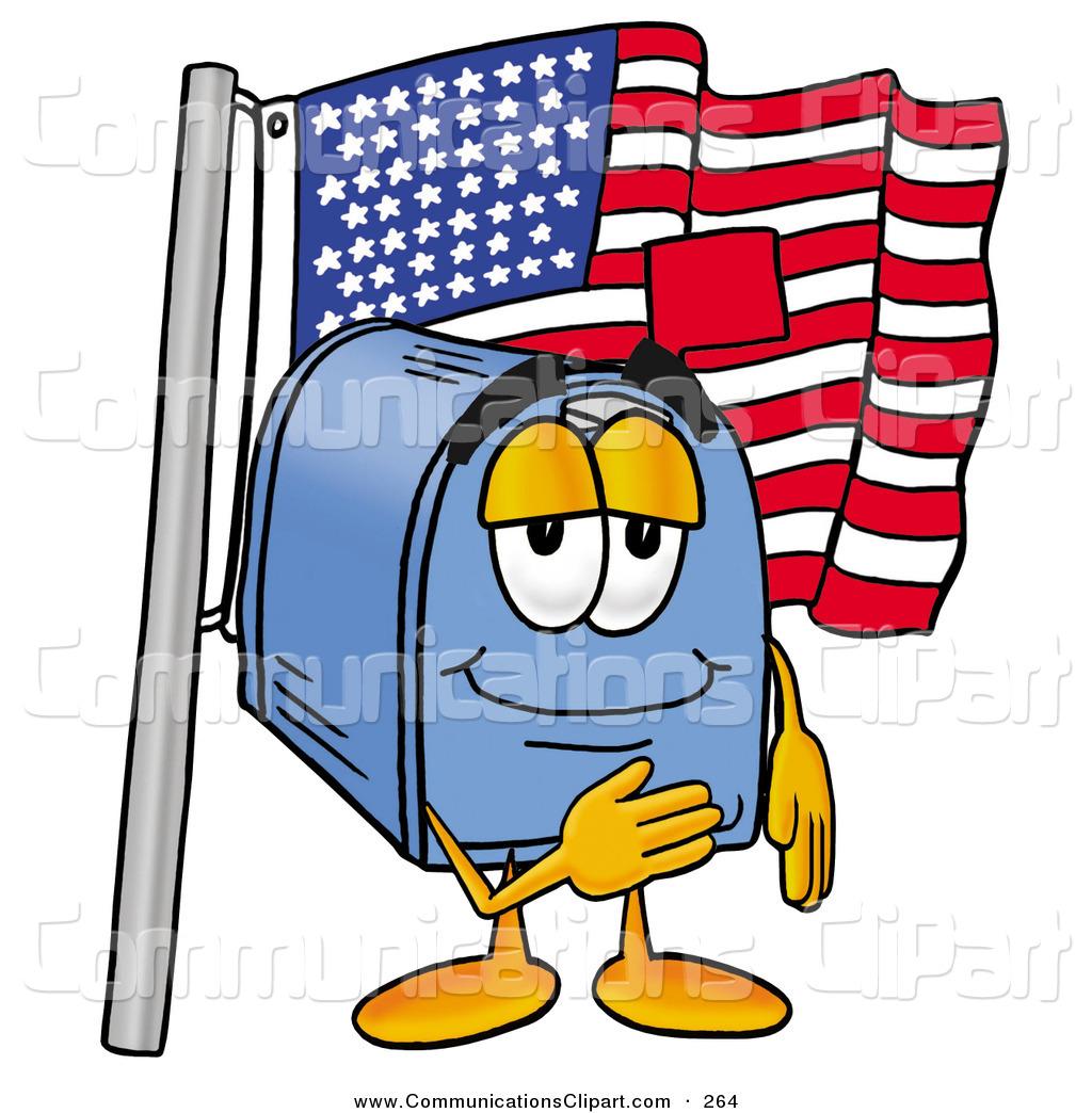 1024x1044 Communication Clipart Of A Happy Blue Postal Mailbox Cartoon