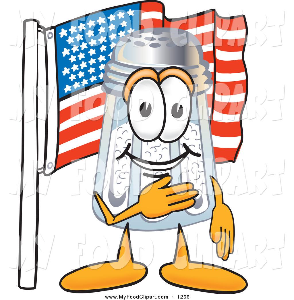 1024x1044 Food Clip Art Of A Patriotic Happy Salt Shaker Mascot Cartoon