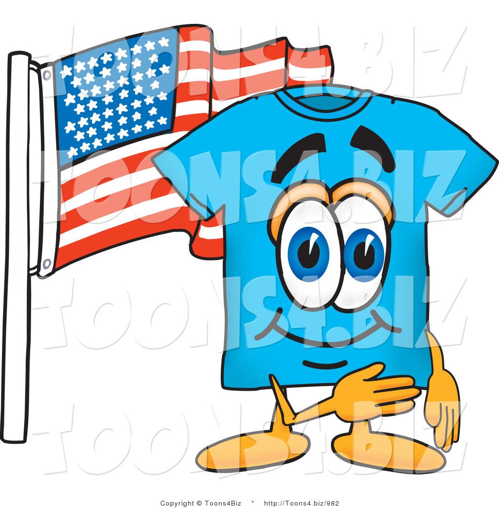 1024x1044 Vector Illustration Of A Cartoon T Shirt Mascot Pledging