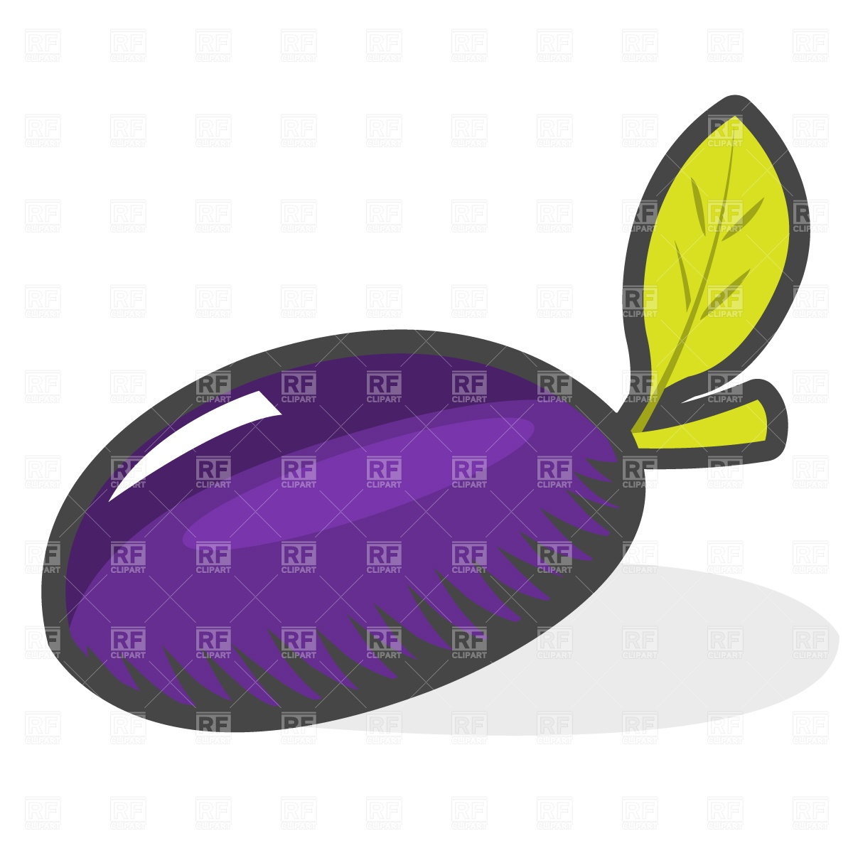 1200x1200 Plum Royalty Free Vector Clip Art Image