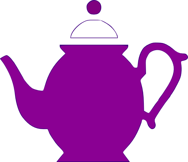 600x517 Teapot Bright Plum Clip Art