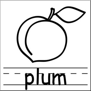304x304 Clip Art Basic Words Plum Bampw Labeled I Abcteach