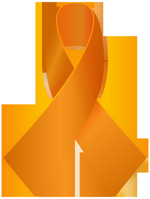 4531x6000 Orange Awareness Ribbon Png Clip Art