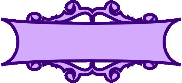 600x275 Purple Banner Scroll Clip Art