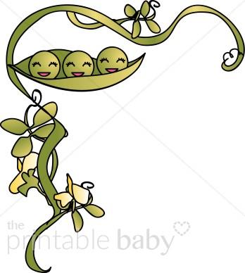 348x388 Three Sleepy Peas In A Pod Flourish Clipart Peas In A Pod Clipart