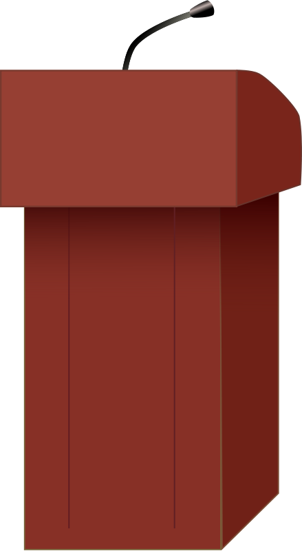 439x800 Free Clipart Speaker's Podium J Alves