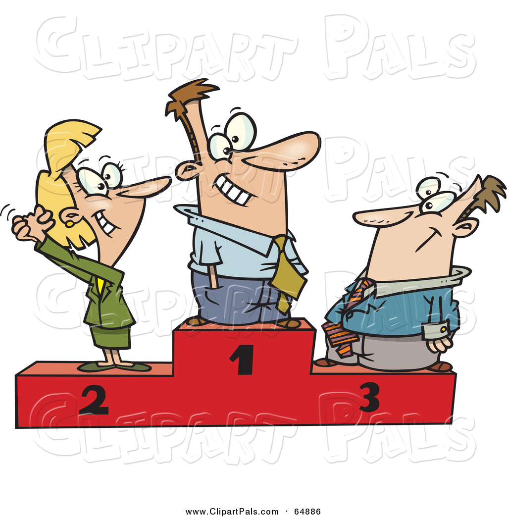 1024x1044 Pal Clipart Of A Cartoon Podium Of First, Second And Third Place