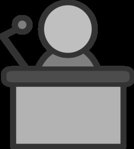 267x297 Speaker Podium Mic Clip Art