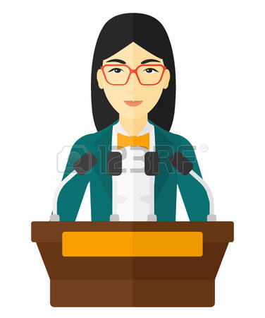 376x450 Speakers Clipart Lady