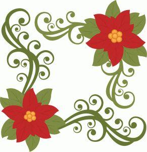 Poinsettia Border Clipart