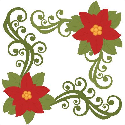 432x432 Christmas Poinsettia Flower Scrapbook Clip Art Christmas Cut Outs