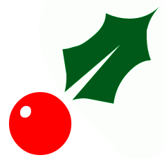 237x234 Free Christmas Clip Art Holly Clipart Panda