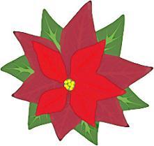 221x209 Free Christmas Poinsettia Clipart