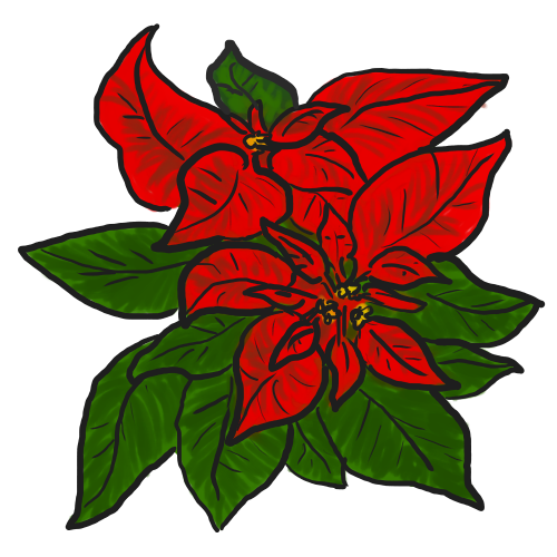 500x500 Free Poinsettia Clip Art