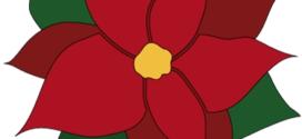 272x125 Poinsettia Border Clip Art, Page Border, And Vector Graphics