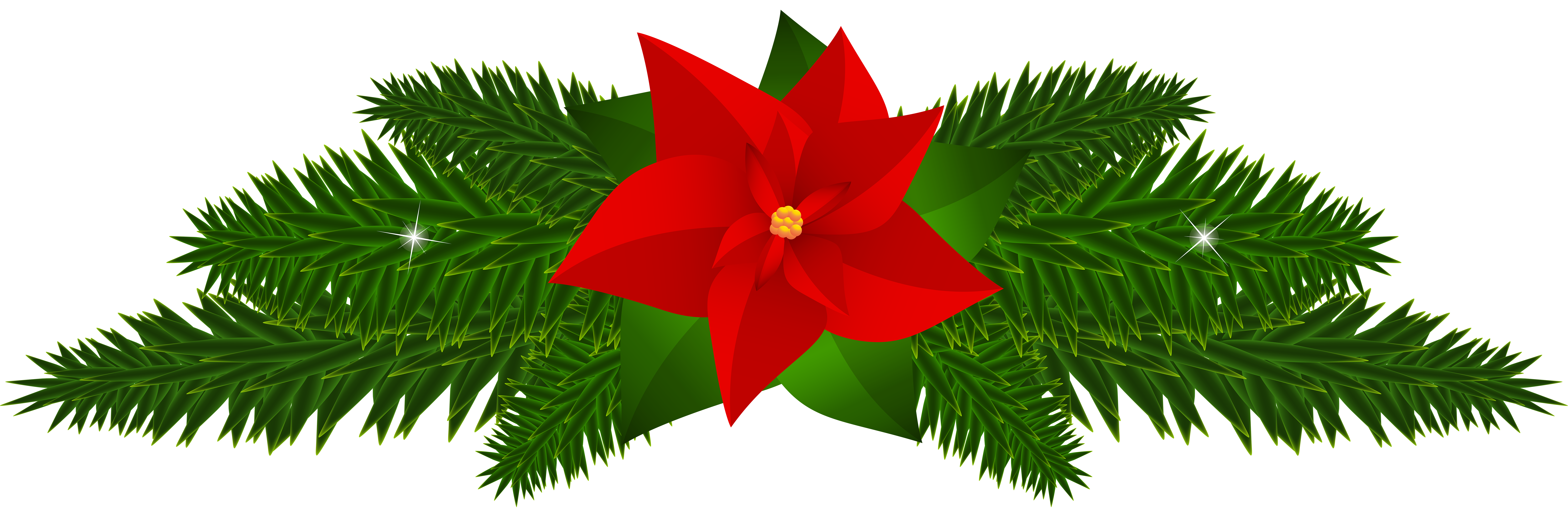 8000x2640 Christmas Poinsettia Decoration Png Clip Artu200b Gallery