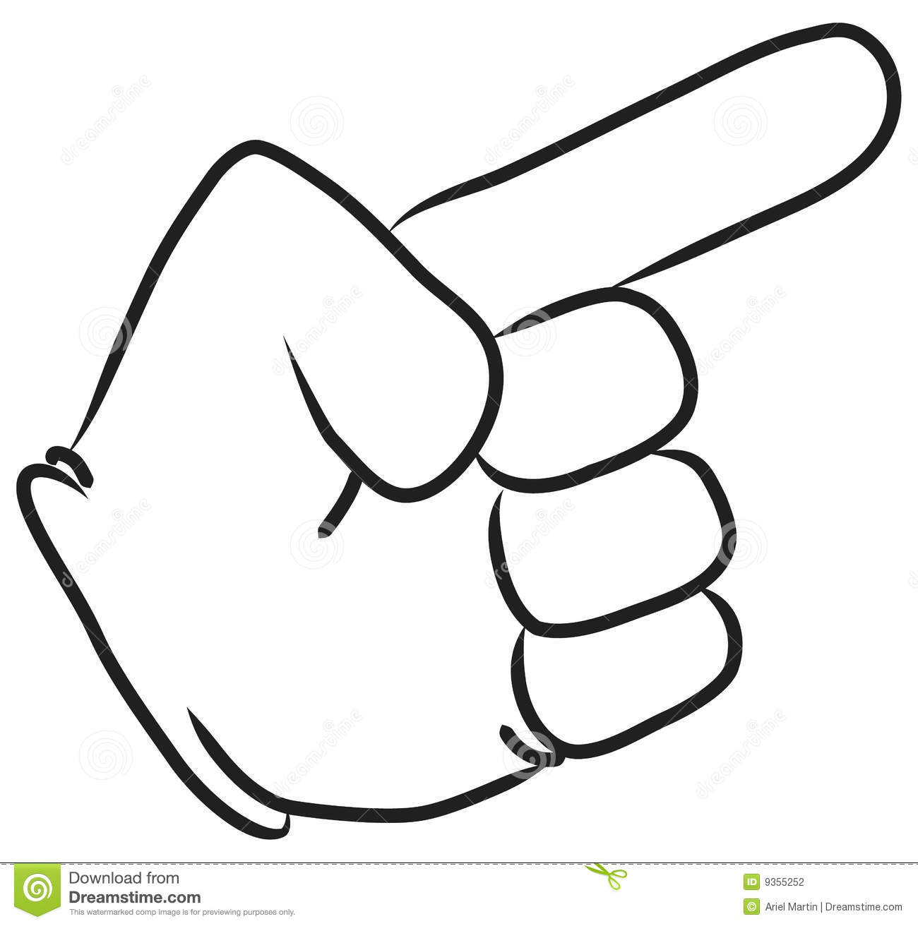1300x1312 Cartoon Pointing Finger Clipart