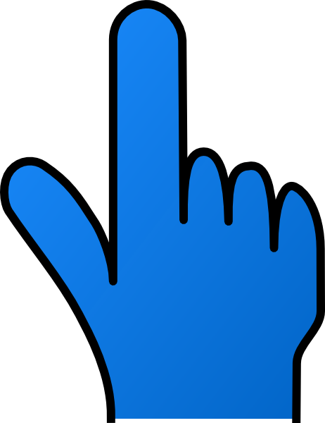462x600 Pointing Finger Without Shade Clip Art