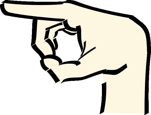 600x455 Clip Art Point Finger