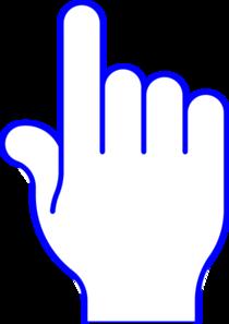 210x297 Blue Pointer Finger Clip Art