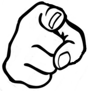 296x304 Pointed Finger Clipart