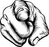170x162 Clip Art Of Pointing The Finger K5317516