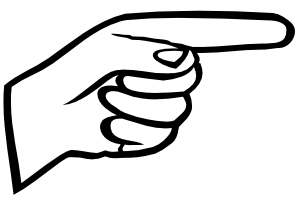300x200 Pointing Finger Clipart Black And White Letters Example