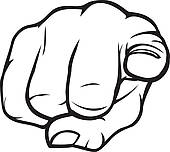 170x152 Clipart Of Hand Pointing Wants You Finger K33597792