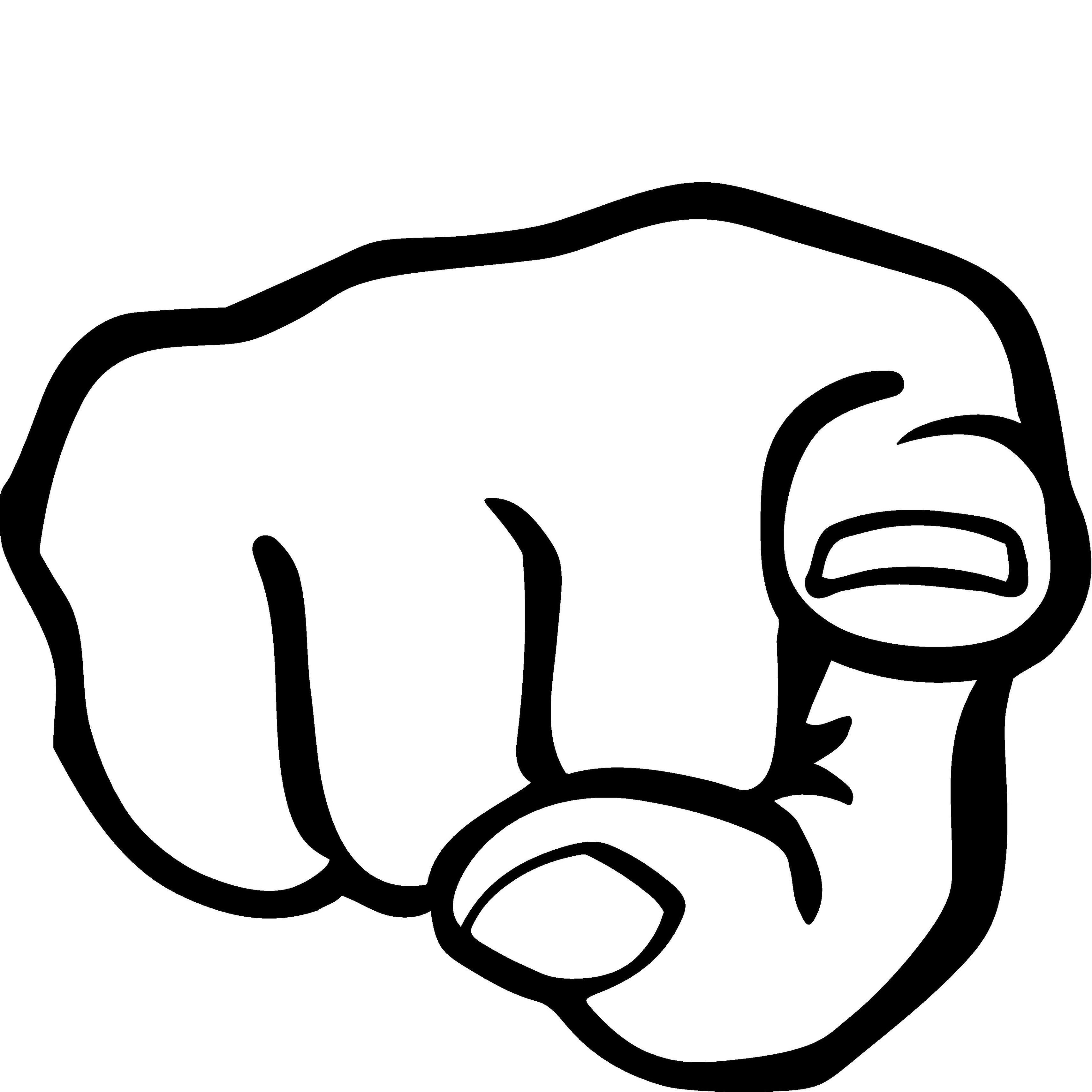 3420x3420 Finger Pointing Clip Art
