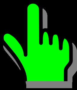 255x297 Hand Pointer Solid Clip Art