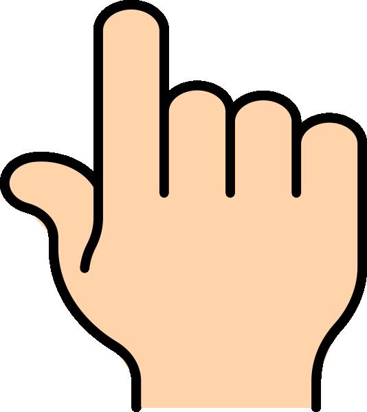 534x600 Pointer Finger Clip Art