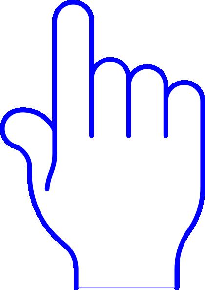 420x594 Blue Pointer Finger Png, Svg Clip Art For Web