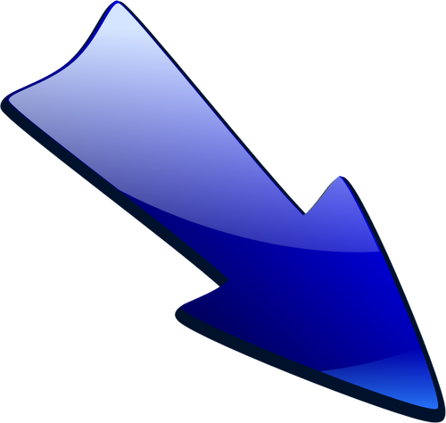 500x474 Blue Arrow Pointing Down Right Vector Drawing Public Domain Vectors