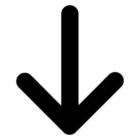 480x480 Down Arrow Clipart Arrow Pointing Down Clipartfest