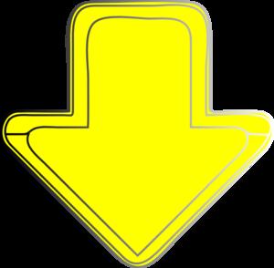 300x294 Yellow Arrow Down Clip Art