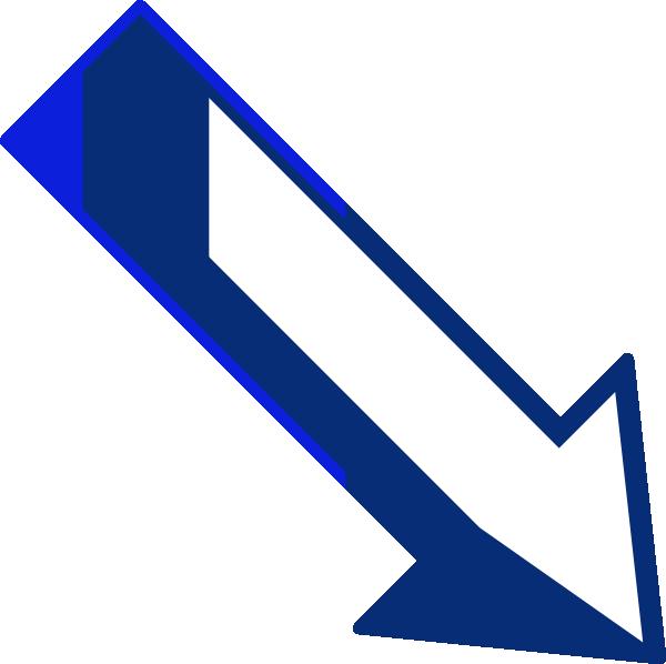 600x598 Blue Arrow Right Down Clip Art