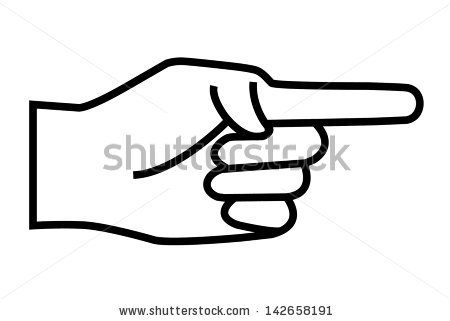 Pointing Hand Cliparts