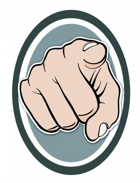 479x626 Frontal Finger Pointing Hand Vector Free Download