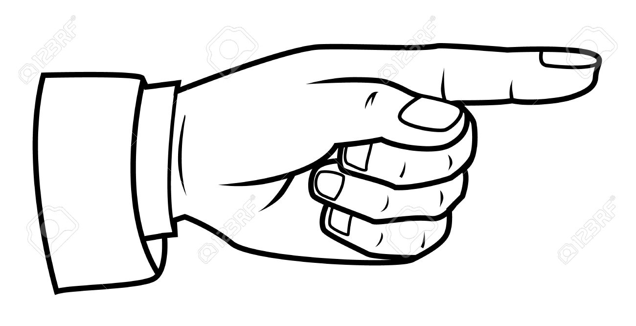 1300x666 Pointing Hand Royalty Free Cliparts, Vectors, And Stock