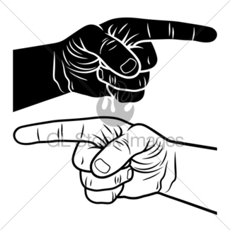 325x325 Vector Retro Vintage Pointing Hand Gl Stock Images