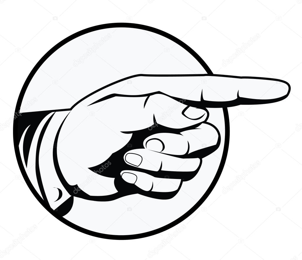 1023x879 Vector Illustration Of Pointing Hand Stock Vector