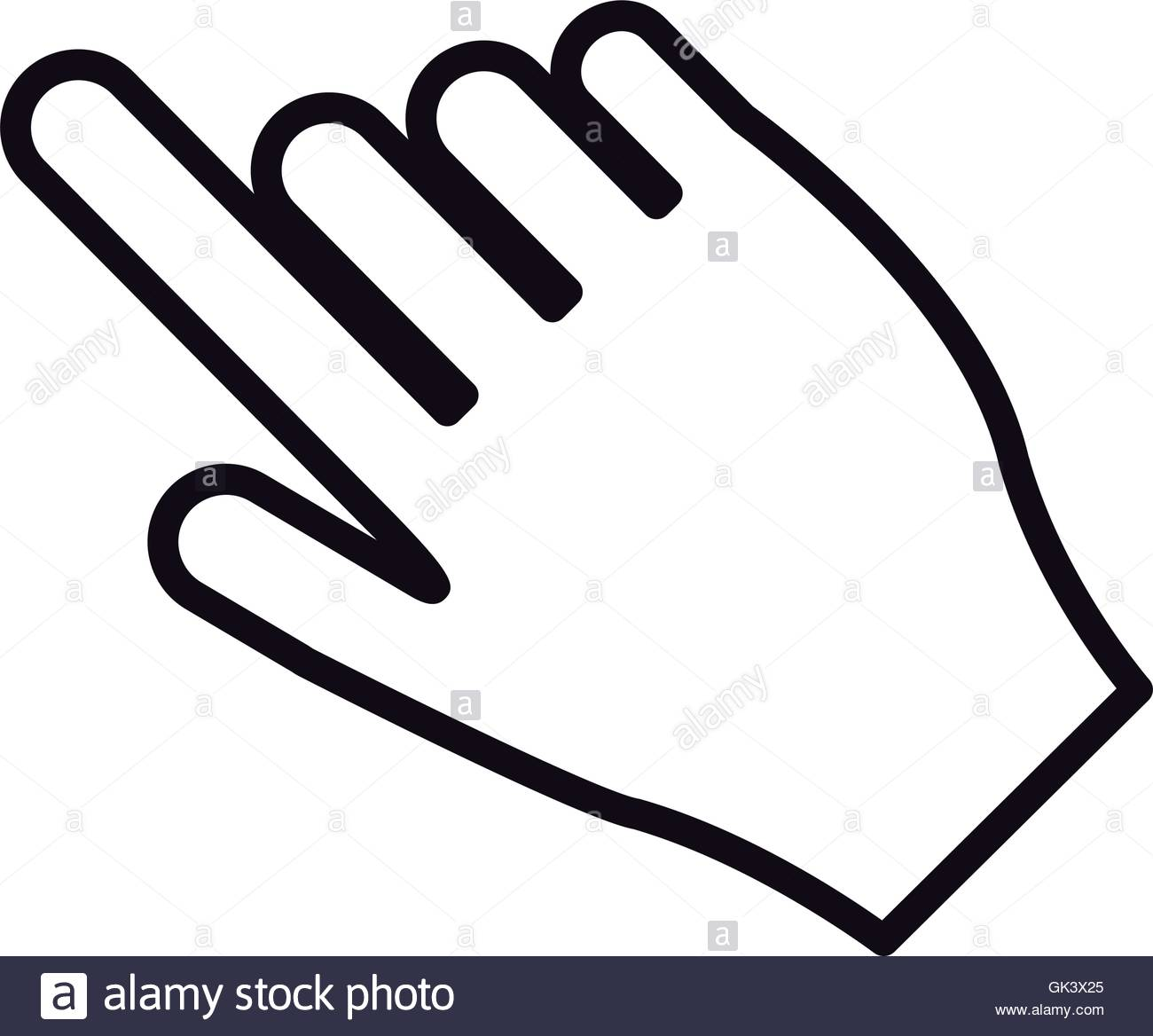 1300x1168 Hand Pointing With Index Finger Icon Stock Vector Art